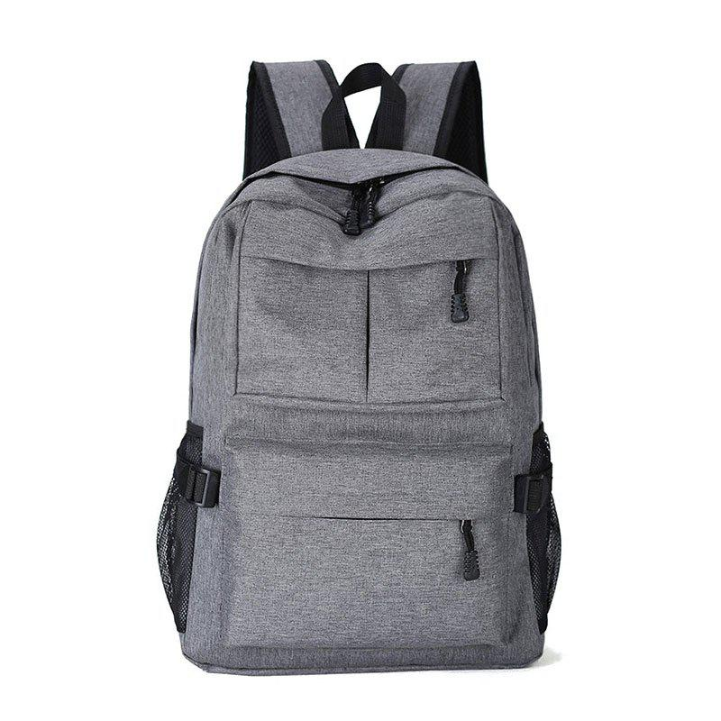 Outdoor Travel Computer Backpack Travel Backpack Student Bag - GRAY VERTICAL