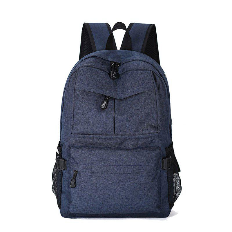 Outdoor Travel Computer Backpack Travel Backpack Student Bag - BLUE VERTICAL