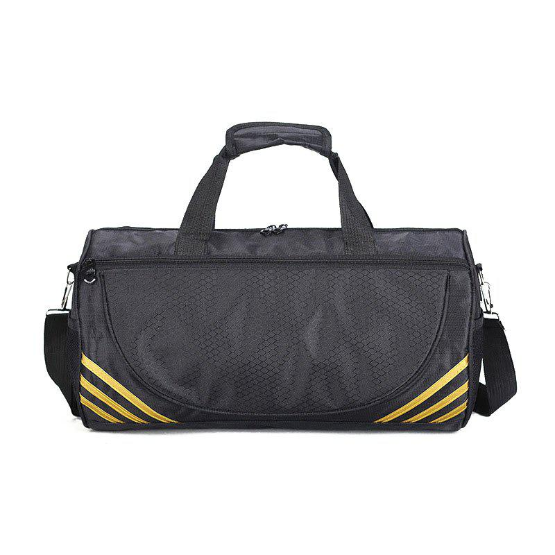 Sports Fitness Yoga Luggage Shoulder Bag - BLACK YELLOW HORIZONTAL