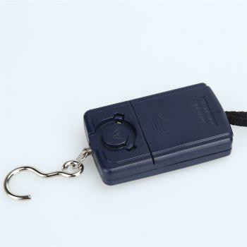 Portable Mini Digital  for Fishing Luggage Travel Weighting Pocket Handy Steelyard Hanging Electronic Hook Scale - BLACK