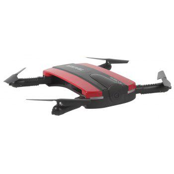 TKKJ 523 Tracker Foldable Mini Selfie Drone with Camera  Altitude Holding FPV  WiFi Phone Control RC Helicopter Toy - RED 15X7.6X4.6