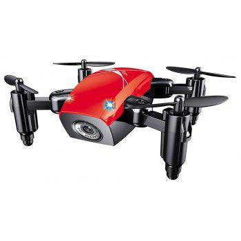 Cloudrover S9HW Foldable Transformable RC Mini Drone with HD Camera Altitude Hold Toys for Children as Christmas Gift - RED 9X7X3