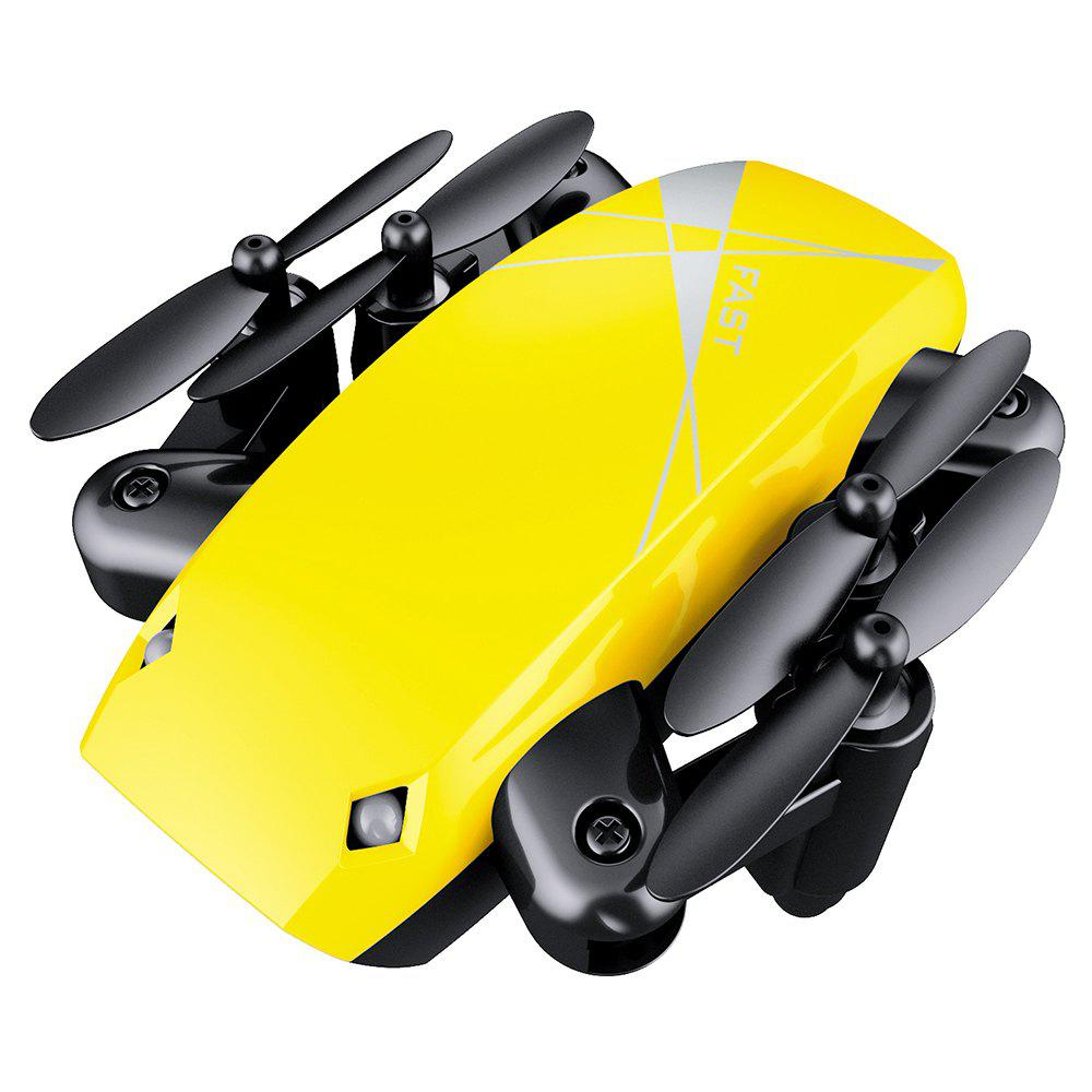 Cloudrover S9HW Foldable Transformable RC Mini Drone with HD Camera Altitude Hold Toys for Children as Christmas Gift - YELLOW 9X7X3