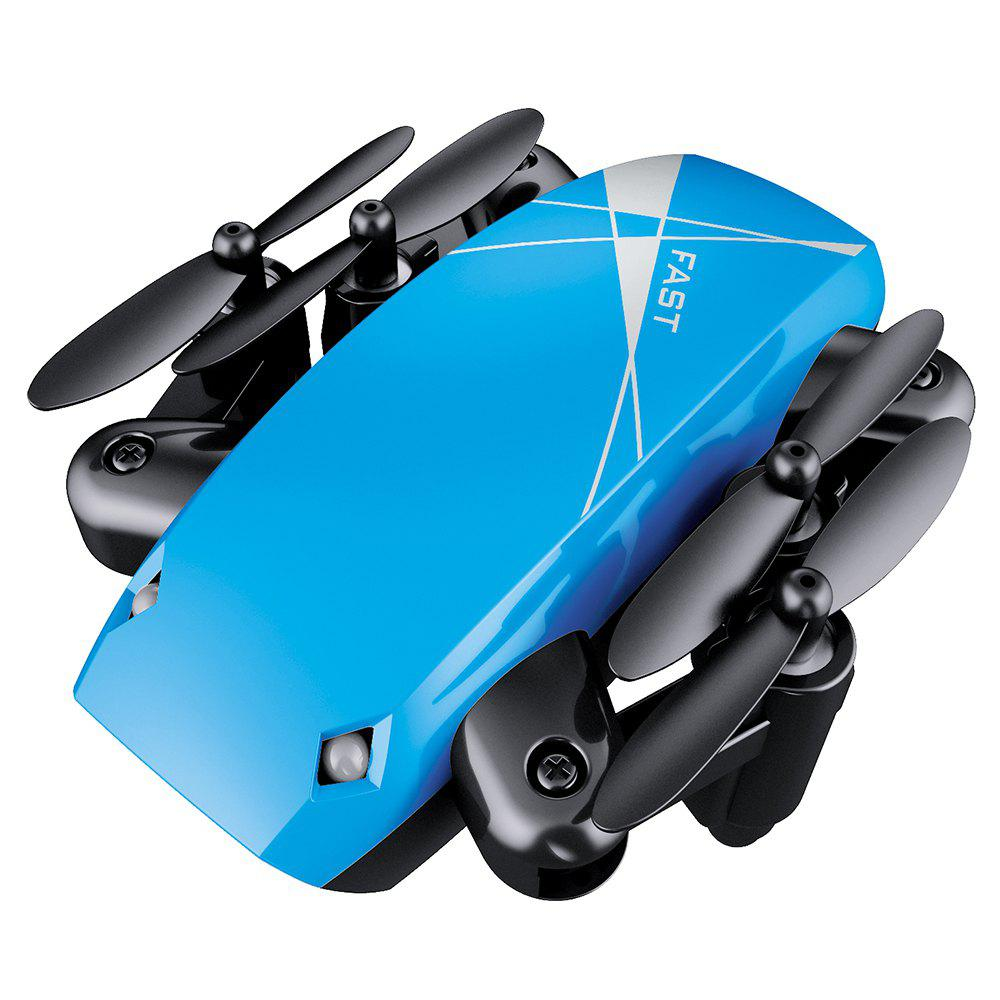 Cloudrover S9HW Foldable Transformable RC Mini Drone with HD Camera Altitude Hold Toys for Children as Christmas Gift - BLUE 9X7X3