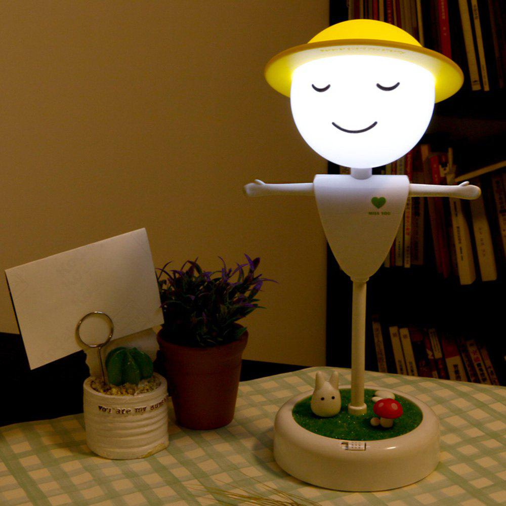 Mini LED Night Light Scarecrow Shape Touch Induction for Student Gift - WHITE