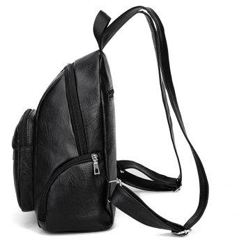 Good Match Fashion New Style Backpack Package Cover Type PU - BLACK