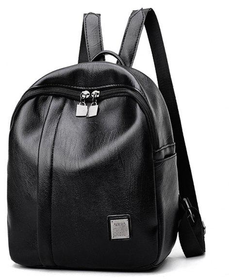 PU Good Match Fashion New Style Backpack Package Cover Type - BLACK