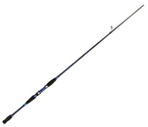 Graphite Carbon Fiber Portable Spinning Telescopic Fishing Rod - BLUE/BLACK 1.8M