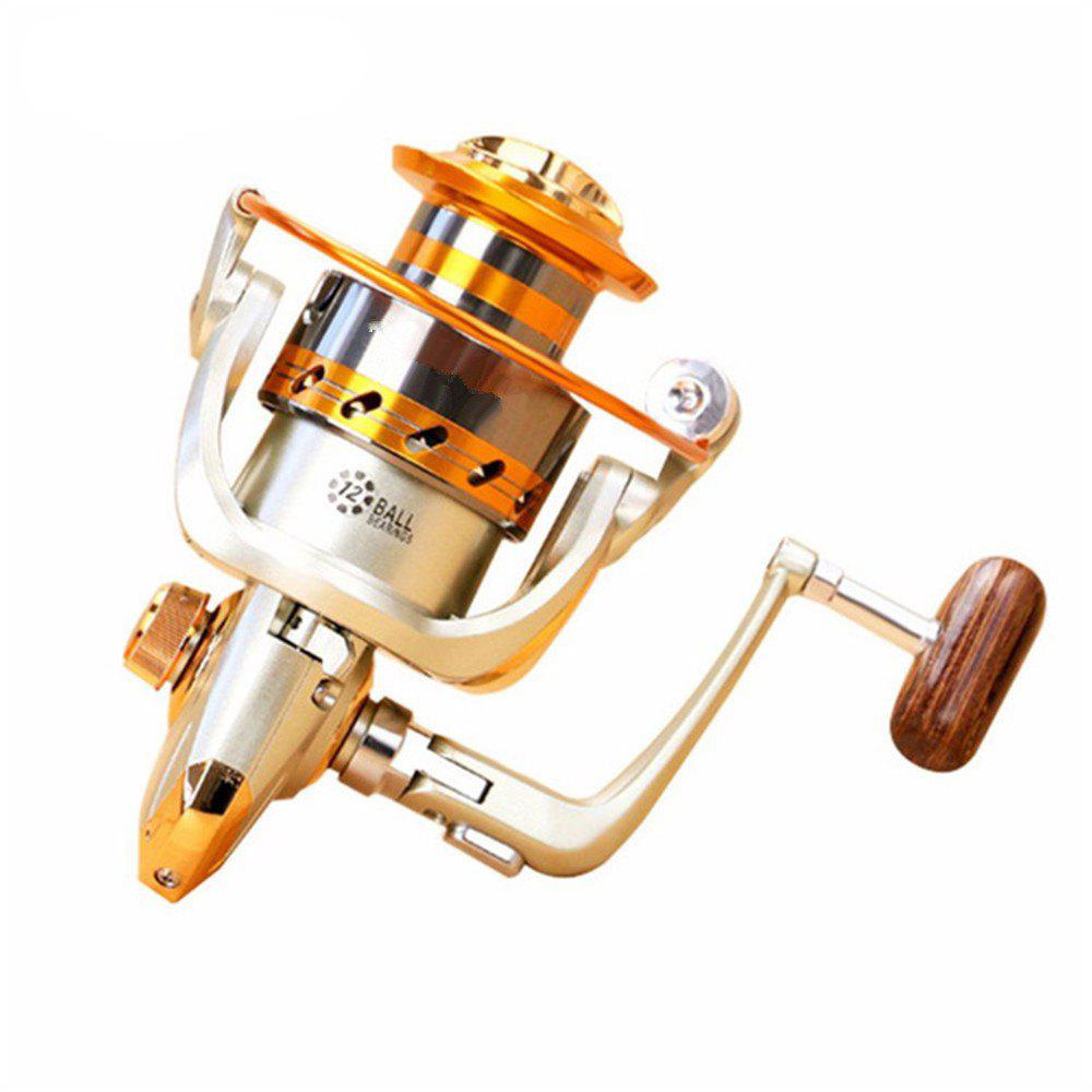5.2/1Gear Ratio Saltwater/Freshwater Metal Fishing Spinning Reel - GOLDEN EF7000