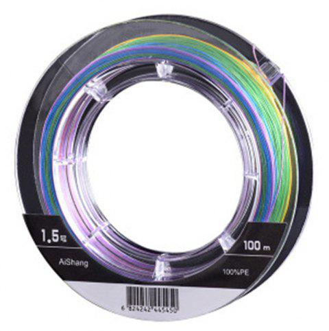 100 Meters Raft Main Sub Super Strong Horse Power 8 Weaving PE Fishing Line - COLOUR 1.5