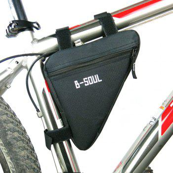 B-SOUL Outdoor Ultralight Bicycle Triangle Bag - BLACK