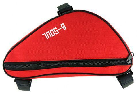 B-SOUL 1.5L Bicycle Front Tube Triangle Bag - RED