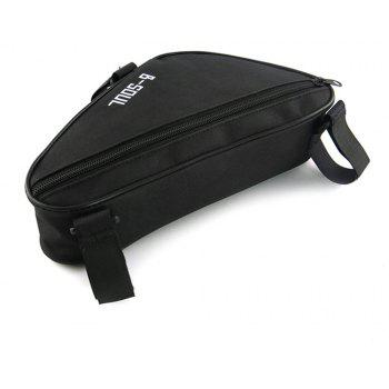B-SOUL 1.5L Bicycle Front Tube Triangle Bag - BLACK