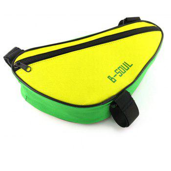 B-SOUL 1.5L Bicycle Front Tube Triangle Bag - DAISY