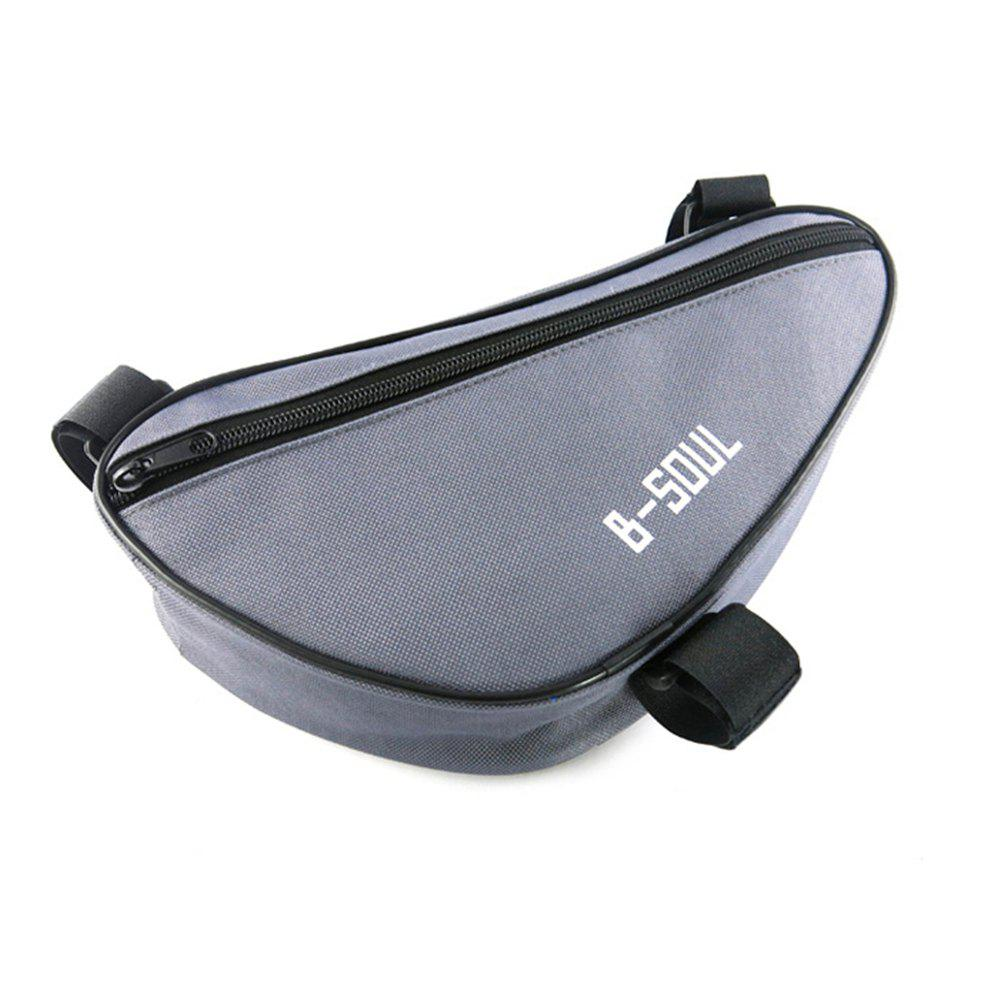 B-SOUL 1.5L Bicycle Front Tube Triangle Bag - GRAY