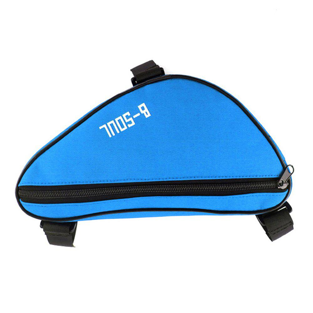 B-SOUL 1.5L Bicycle Front Tube Triangle Bag - BLUE
