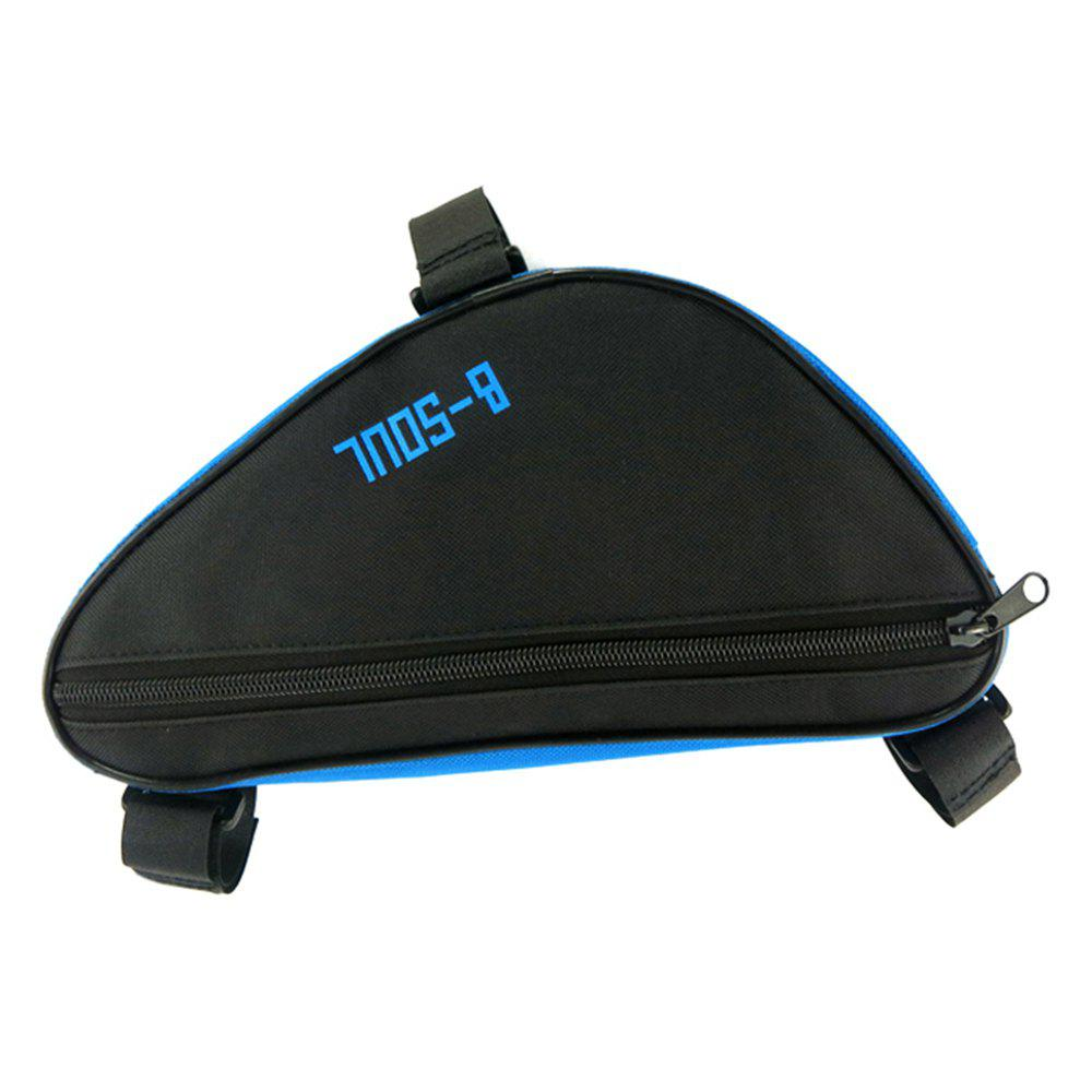 B-SOUL 1.5L Bicycle Front Tube Triangle Bag - BLUE/BLACK