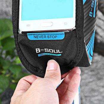 B-SOUL Bicycle Mount for 5.7 Inches Handlebar Phone Bag - BLUE