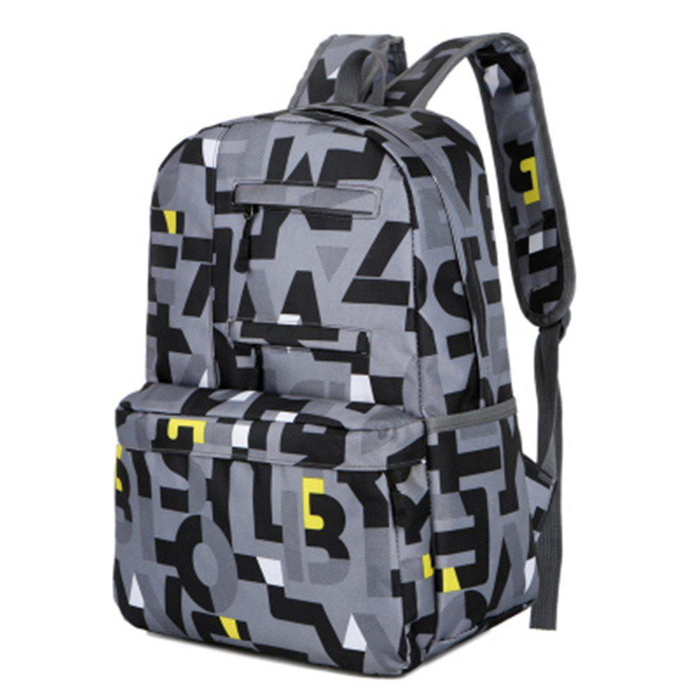 1053 Students Nylon Fabric Bag - GRAY