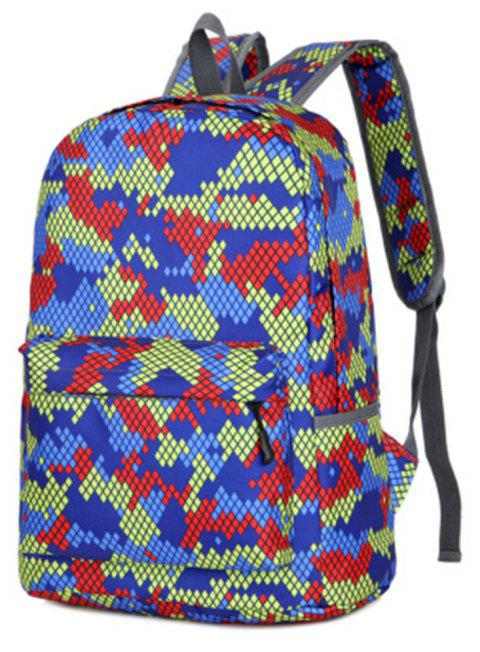 Camouflage Backpack 1052 Nylon Mesh Cloth - GREEN