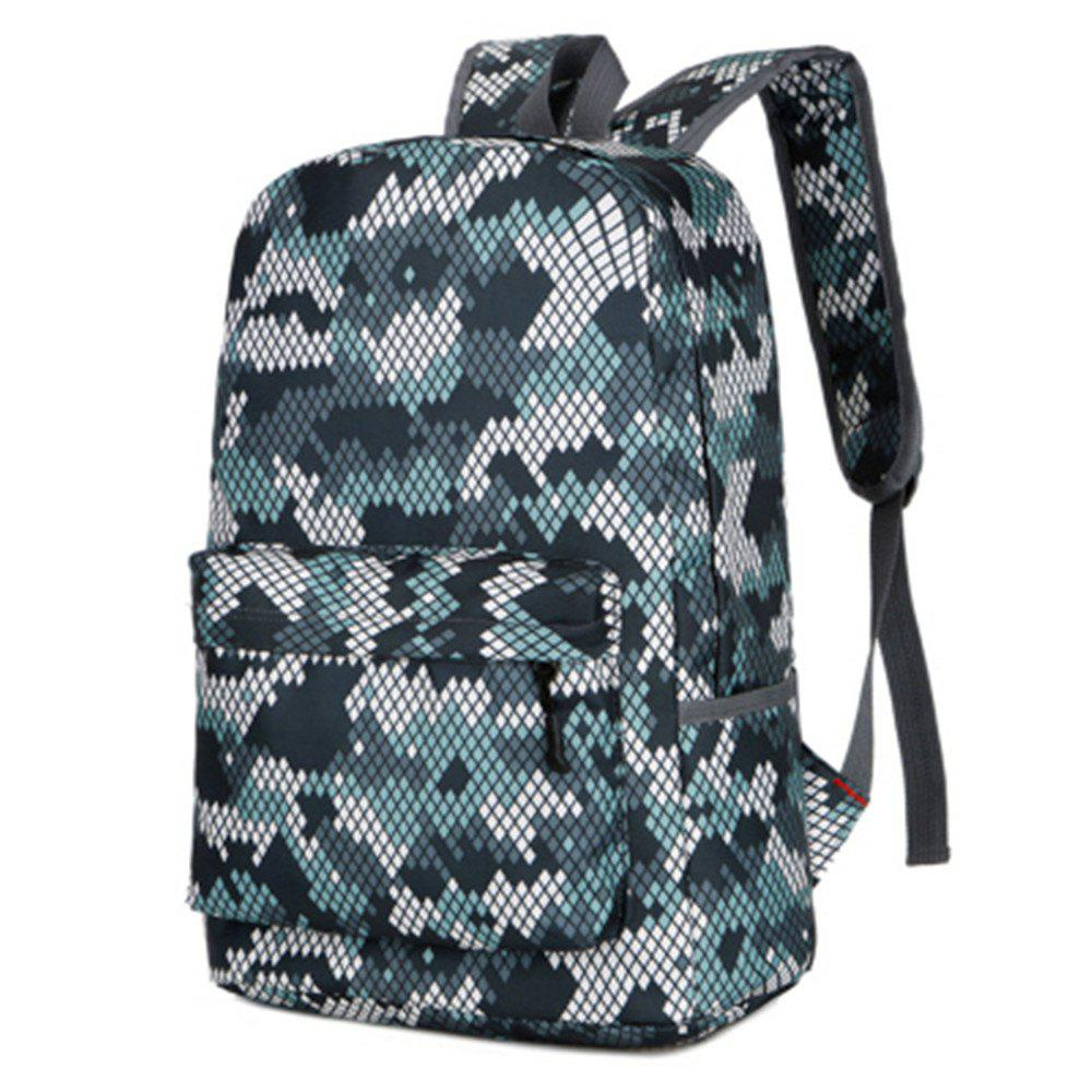 Camouflage Backpack 1052 Nylon Mesh Cloth - WHITE