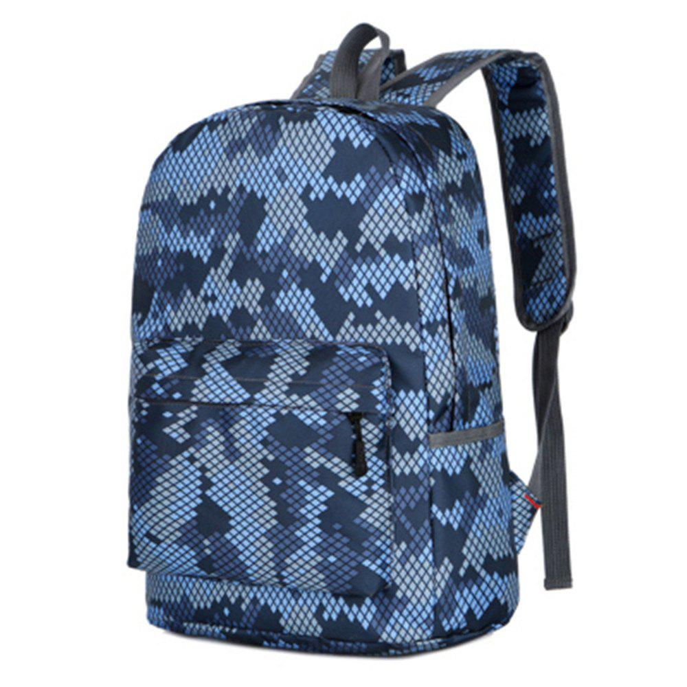 Camouflage Backpack 1052 Nylon Mesh Cloth - GRAY