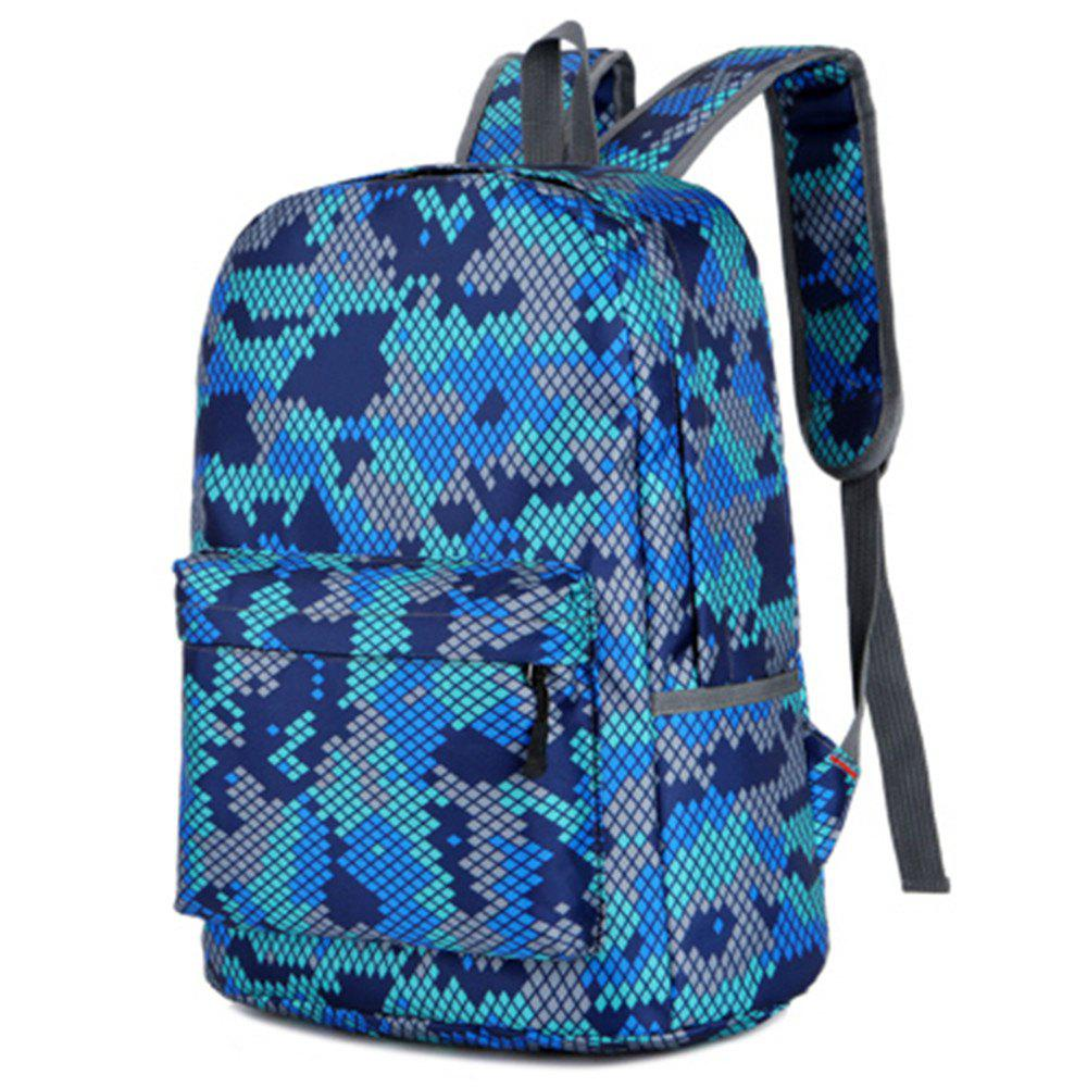 Camouflage Backpack 1052 Nylon Mesh Cloth - BLUE