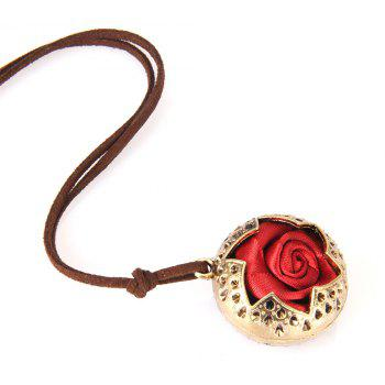 Fashion Ornaments Rose Pendant Necklace Sweater Chain - GOLDEN