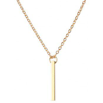 Geometry Pendant Double Choker Adjustable Gold Chain Necklace for Women - GOLDEN