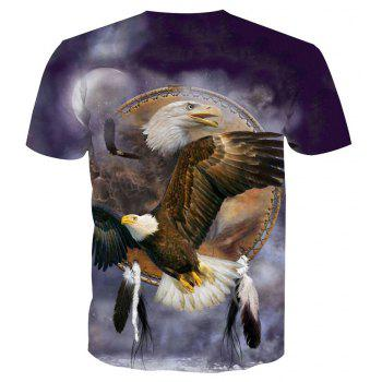 Eagle Printing Short-Sleeved T-Shirt - ANIMAL SERIES 3XL