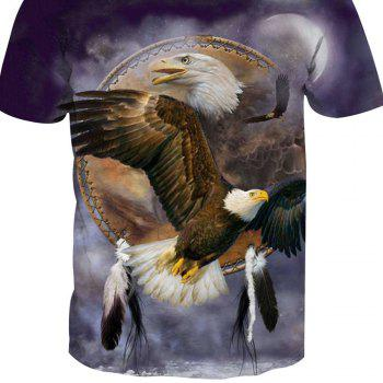 Eagle Printing Short-Sleeved T-Shirt - ANIMAL SERIES 5XL