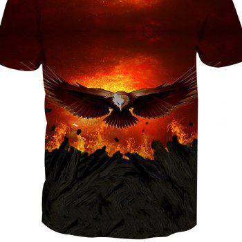 Eagle Print Short-Sleeved T-Shirt - ANIMAL SERIES L