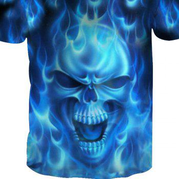 Short Sleeve Print Skull T-Shirt - SKULL 3XL