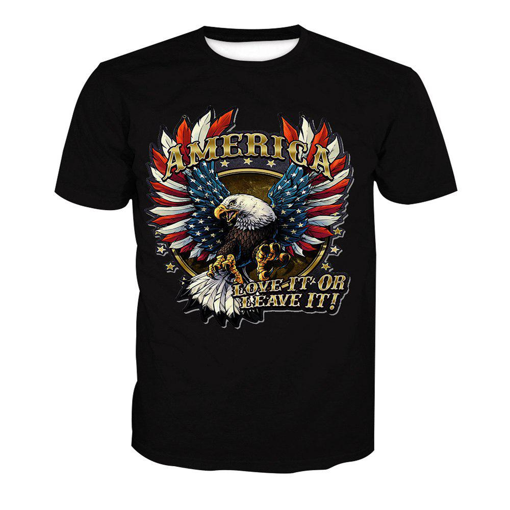 Eagle Short Sleeve Printed T-Shirt - ANIMAL HEAD XL