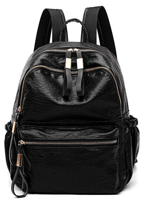 Backpack Good Match Fashion New Style Package Cover Type PU - BLACK
