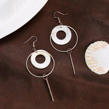 Boucles d'oreilles rondes Fashion Shell - Or Rose