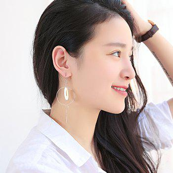 Fashion Shell Round Earrings - SILVER
