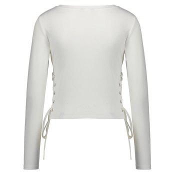 Spring Long Sleeve T-Shirt - WHITE L