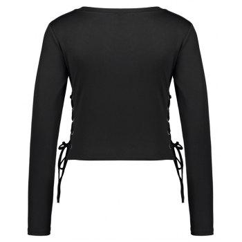 Spring Long Sleeve T-Shirt - BLACK S
