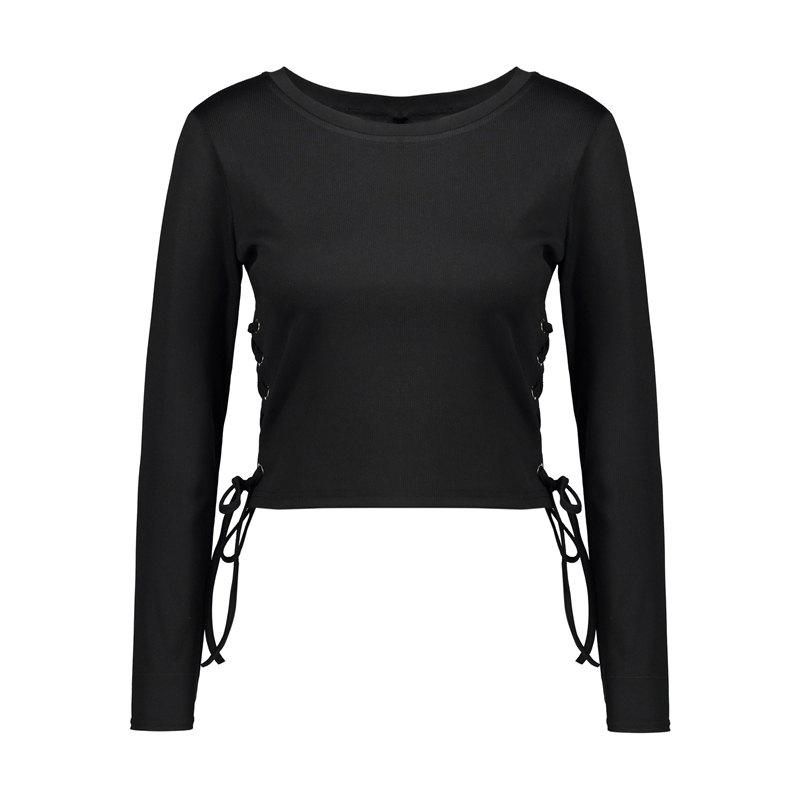 Spring Long Sleeve T-Shirt - BLACK M