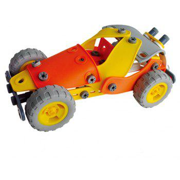 DIY 5 in 1 Education 3D Building Blcoks Puzzle Kids Raider Buggies Bulldozer Steamboat Bus Helicopter Learning Toy 148PC - MIXCOLOR