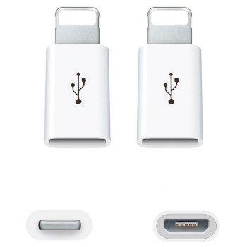 3pcs Micro USB to 8 Pin Adapte for Apple iPhone X/iPhone8/iPhone Plus/7/7 Plus/6 6S - WHITE