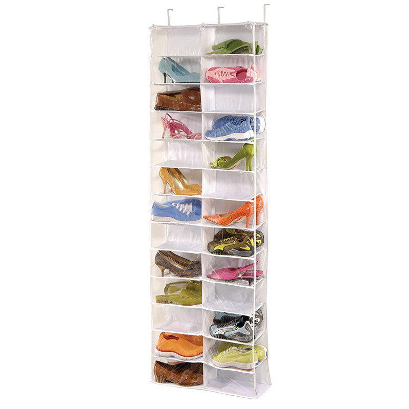 Over The Door Shoe Organizer - WHITE