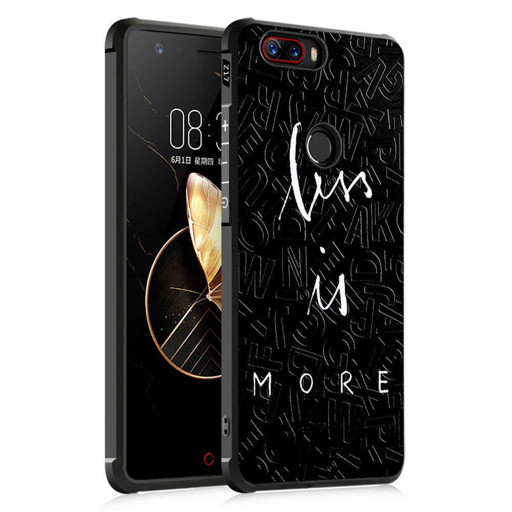Shockproof Soft Silicone Case for Nubia Z17 Cover Case 3D Painting Fashion Full Protective Phone Case - BLACK CROSS