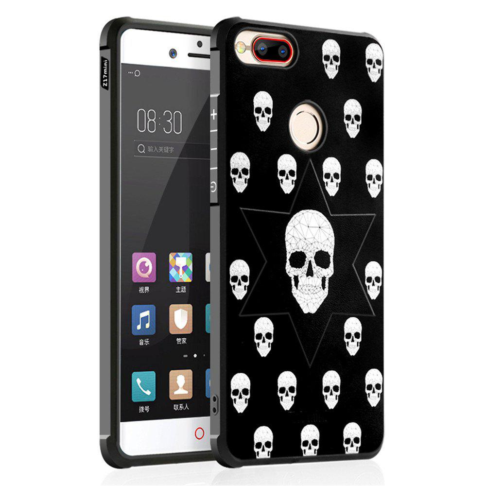 Shockproof Soft Silicone Case for Nubia Z17 Mini Cover Case 3D Painting Fashion Full Protective Phone Case - WHITE / BLACK