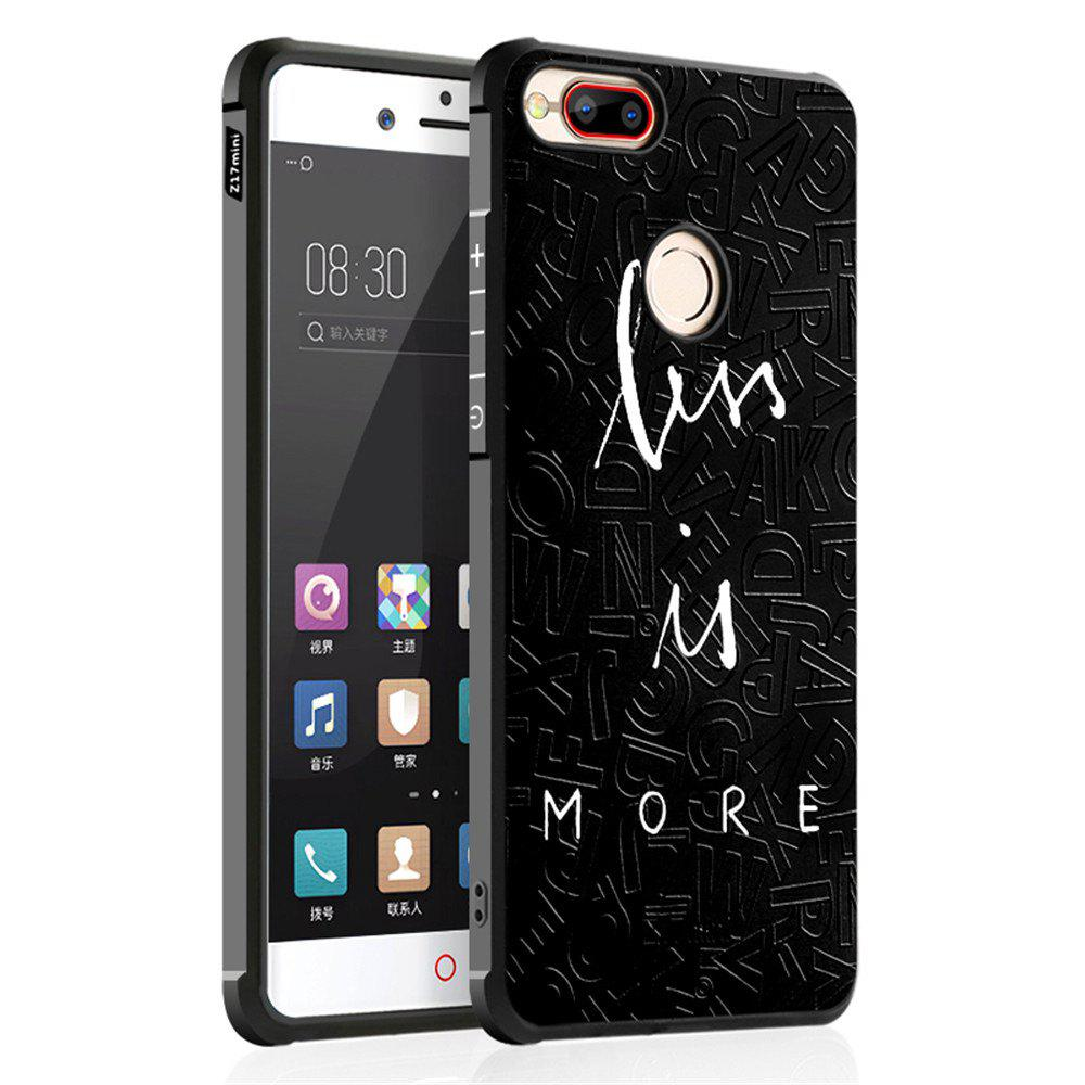 Shockproof Soft Silicone Case for Nubia Z17 Mini Cover Case 3D Painting Fashion Full Protective Phone Case - BLACK CROSS
