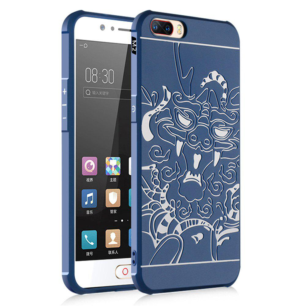 Shockproof Soft Silicone Cover for Nubia M2 Case Dragon Pattern Fashion Full Protective Phone Case - BLUE