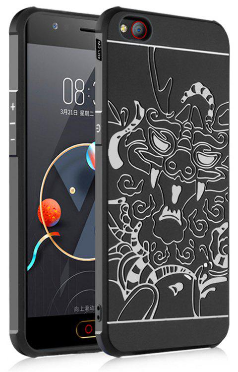 Shockproof Soft Silicone Cover for Nubia M2 Lite Case Dragon Pattern Fashion Full Protective Phone Case - BLACK