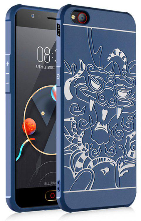 Shockproof Soft Silicone Cover for Nubia M2 Lite Case Dragon Pattern Fashion Full Protective Phone Case - BLUE