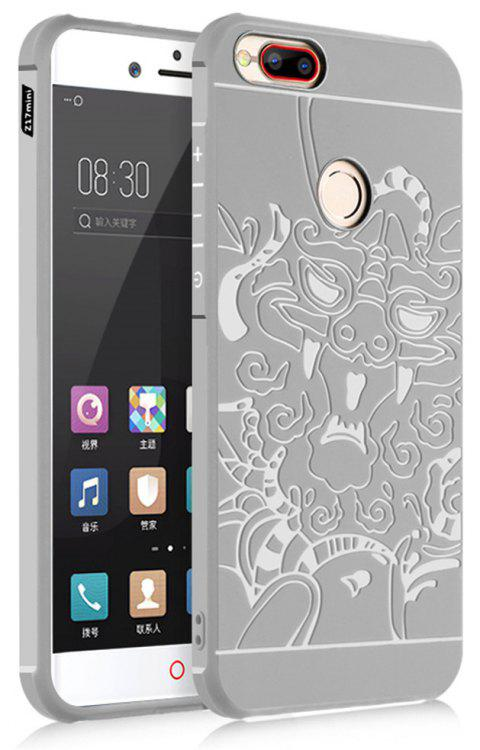 Shockproof Soft Silicone Cover for Nubia Z17 Mini Case Dragon Pattern Fashion Full Protective Phone Case - GRAY
